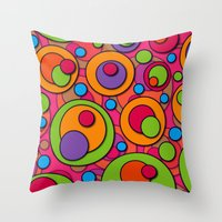 polka dots Throw Pillows featuring Polka Dots by Shelly Bremmer