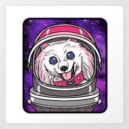Cookie the AstroPom Art Print