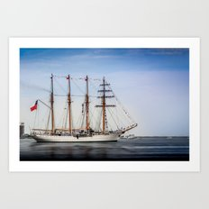 Sail Boston - Chilean Esmeralda. Art Print