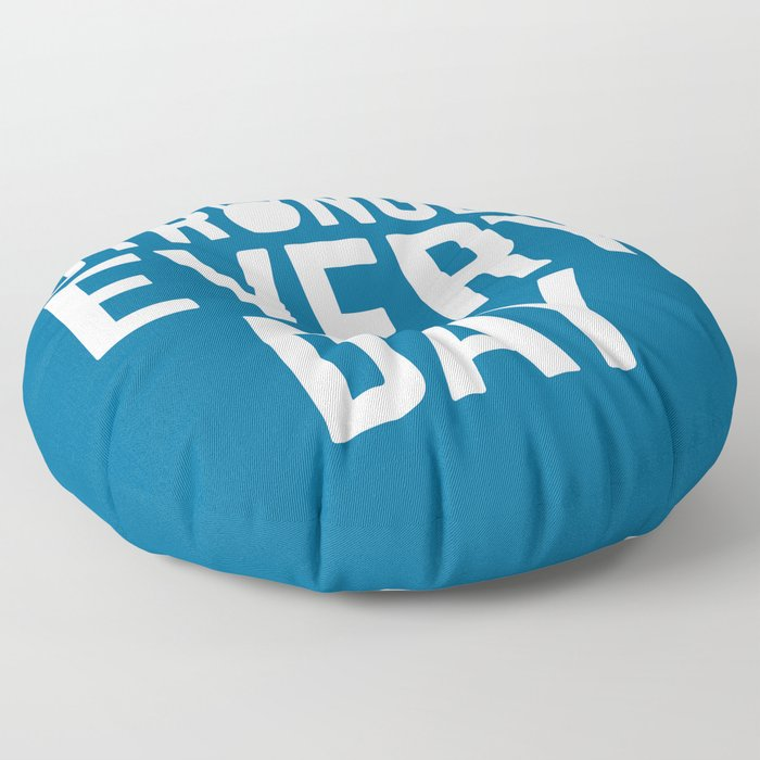 Stronger Every Day Gym Quote Floor Pillow
