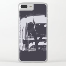 midnight shift Clear iPhone Case