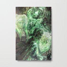 Green Healing Light Metal Print