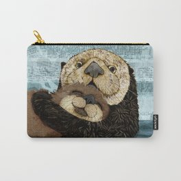 Sea Otter Mother and Baby Carry-All Pouch