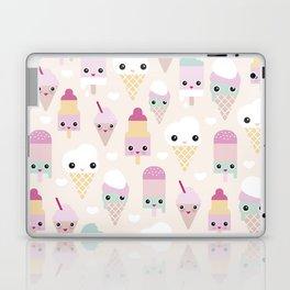 Cute kawaii summer Japanese ice cream cones and popsicle p Laptop & iPad Skin