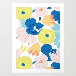 Painterly Blooms Art Print