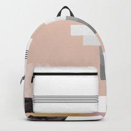 Peach Stripe Deco Hexagon Backpack