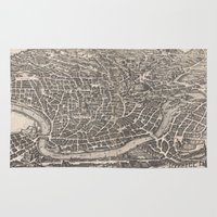 rome Area & Throw Rugs featuring Rome  by Le petit Archiviste