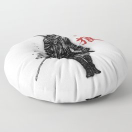 One Armed Wolf Floor Pillow