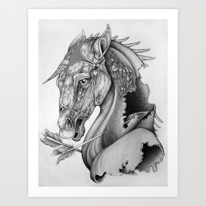 The King's Lost Knight Art Print