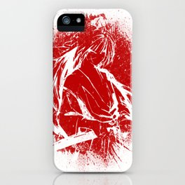 Himura Kenshin - Red Abstraction iPhone Case