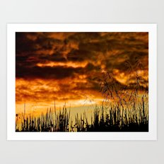 When Storm & Sunset Meet Art Print