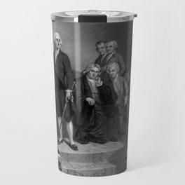 Washington Delivering His Inaugural Travel Mug