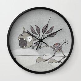 Grey Shrieky Wall Clock