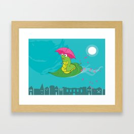 Night Flight of the Inchworm Framed Art Print