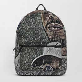 Lewis Hamilton Artistic Illustration Bubble Wrap Style Backpack
