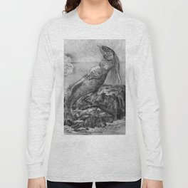 Mermaid pregnant Long Sleeve T-shirt