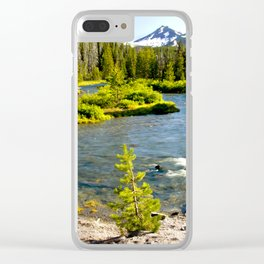 Greenlake trailhead H Clear iPhone Case