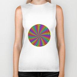 Psychedelic Rainbow Spiral Biker Tank