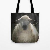 sheep Tote Bags featuring Sheep by Monika Strigel