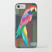 parrot iPhone & iPod Cases featuring parrot by mark ashkenazi