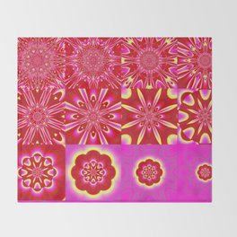 Fractal Flower Shower Throw Blanket