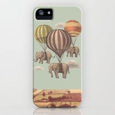 Flight of the Elephants - mint option iPhone (5, 5s) Slim Case