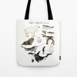 Arctic & Antarctic Animals Tote Bag
