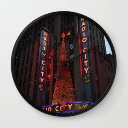 Radio City Music Hall at Christmastime Wall Clock