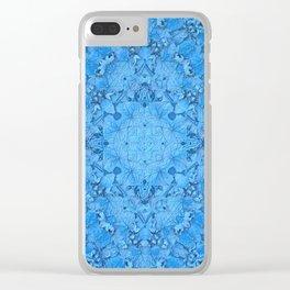Symmetry in Blue Clear iPhone Case