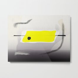 yellow on monday after a long day at work Metal Print