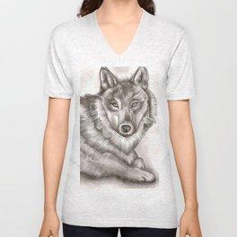 Wolf Unisex V-Neck