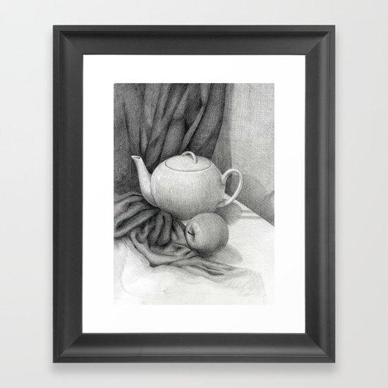 Still Life with a Tea Pot Framed Art Print