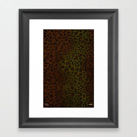 Modern Woodgrain Camouflage / Zaire KDP Print Framed Art Print