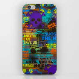 Uplifting Collage (fluo) iPhone Skin