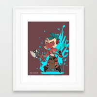 dota Framed Art Prints featuring Troll Warlord by Angxix