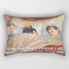 Sharing Beds Rectangular Pillow