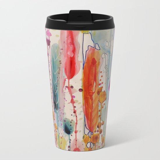 champs fleuris Metal Travel Mug