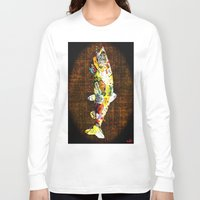 whisky Long Sleeve T-shirts featuring FISH with a side of Bourbon Please by Saundra Myles