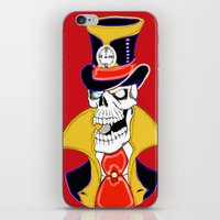 steam punk iPhone & iPod Skins featuring Steam Punk Vampire Skull by J&C Creations
