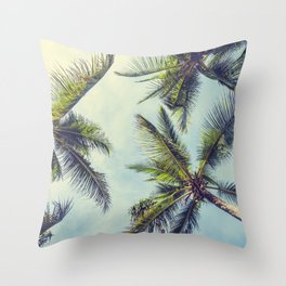 Sprawled Palms Throw Pillow
