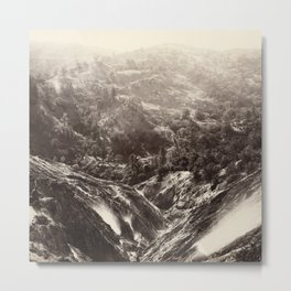 Devil's Canyon, geysers, looking down Metal Print