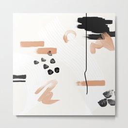Abstract Peach Metal Print