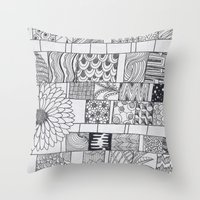calendar Throw Pillows featuring Bloom Calendar by sinonelineman
