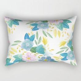 Soft Flowals Rectangular Pillow