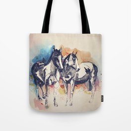 Two Horses (Standing) Tote Bag