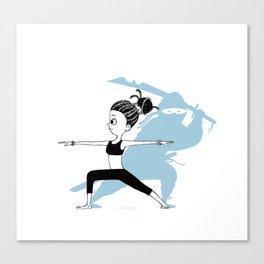 Yoga Ninja Warrior Canvas Print