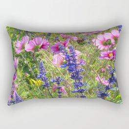 Pink and Purple Rectangular Pillow