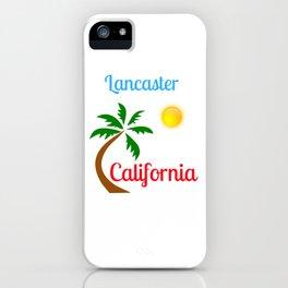 Lancaster California Palm Tree and Sun iPhone Case