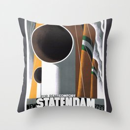 Vintage Travel Poster - New  Statendam 1929 Throw Pillow