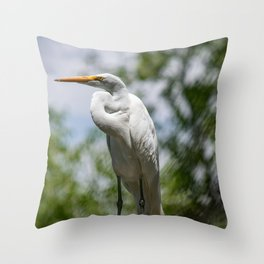 Great Egret - Utah Throw Pillow
